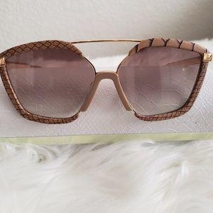 Jimmy choo leather sunglasses